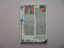 Bloomsbury Auctions Catalog - Important Printed Books & Manuscripts, Ny028, 2009