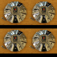4 x KMC XD Series 778 Monster Chrome Wheel Rim Center Cap 846L215