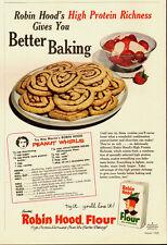 1960 Vintage ad for Robin Hood Flour`Peanut Whirls`Recipe (121913)