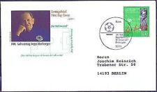 BRD 1997: Sepp Herberger! FDC der Nr. 1896 mit Bonner Stempel! Gelaufen! 1702