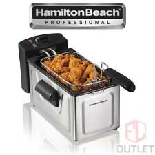 Deep Fryer Countertop Electric 8 Cup Stainless Steel Kitchen Hamilton Beach NEW