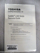 User Resource Manual ONLY for Toshiba Satellite L300 Laptop