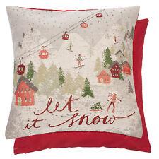 """Clayre & Eef Kissen mit Füllung """" Let it Snow """" Landhaus Nostalgie 45*45cm"""