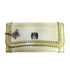 ANNA SUI IVORY OFF WHITE LEATHER WALLET