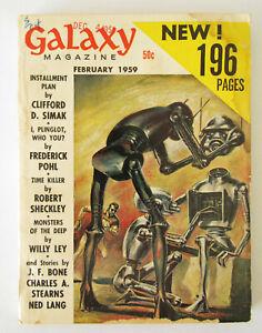 Galaxy Magazine ~February 1959 ~ Good cond.