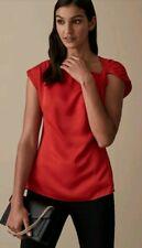 Designer REISS Trinny top size 10 --BRAND NEW-- red twist knot