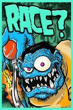 Weirdo Race Rat Fink Style vinyl garage shop banner