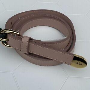 LAUREN RALPH LAURENWomen's pebble leather belt with gold hardware  Size L