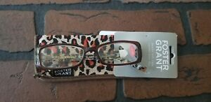 Foster Grant  +2.50 Reading Glasses with case Brown Plastic Frames Lara BRN