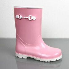 Gucci Kids Children's Pink Rubber Rain Boot w/Horsebit 285287 5867