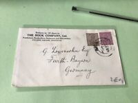 India Calcutta 1929 Book Company to Germany  stamps cover ref 50498