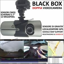 DVR HD REGISTRATORE AUTO DOPPIA TELECAMERA VIDEO GPS per DACIA DUSTER
