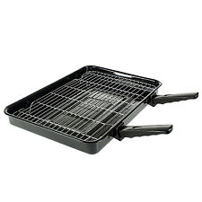 Extra Large Cooker Oven Grill Pan & Rack Detachable Handles For Beko Ovens