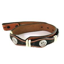 Ranger Belt Company Genuine Leather Belt Star Braid Size 24 No Buckle Cowboy