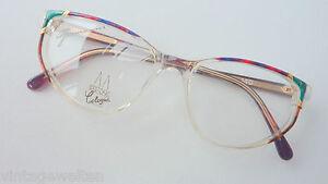 Damenbrille bunt transparent große Glasform 52-17 mittelgroß gleitsichtf. Gr. M