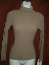 NEW SPANX ON TOP IN CONTROL 973 LONG SLEEVE DUSTY GREY TURTLENECK KNIT TOP L