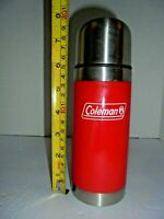 small Red Vintage COLEMAN thermos bottle Insulated with drink spout