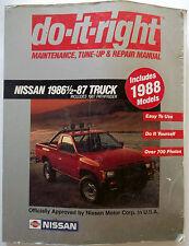1986 1/2 1987 Nissan Truck Do-It-Right Maintenance-Tune-Up & Repair Manual
