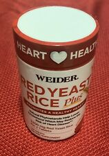 WEIDER - Red Yeast Rice Plus - 120 Tablets. NEW/SEALED. EXP:01/2022