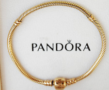"Gen Pandora 19cm Gold Bracelet 14ct. - 550702-19 - retired style without ""crown"""