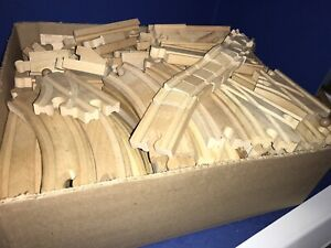 Thomas & Friends Train 120 Pc Lot of Wooden Track Wacky Reversible Switches Hill