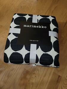 Marimekko Pienet Kivet King Quilt Set, Black With 2 King Shams!!