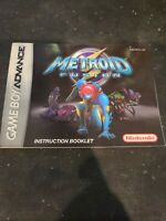 GBA Gameboy Game Boy Advance Metroid Fusion INSTRUCTION BOOKLET Manual Only