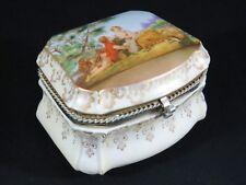 Vintage Lenwile Ardalt Fine China French Boudoir Vanity Dresser Jewelry Box