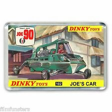60's NOSTALGIA -  JOE 90( JOES CAR) DINKY TOYS BOX ARTWORK - JUMBO FRIDGE MAGNET