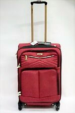 Steve Madden Luggage 2 Piece Softside Spinner Suitcase Set , Rockstar Red