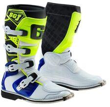 GAERNE SGJ WHITE/BLUE/YELLOW KIDS MX BOOTS, MOTOCROSS, ENDURO, OFF ROAD BOOTS