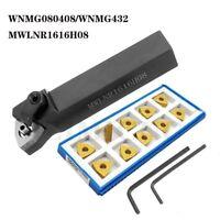 WNMG432 carbide inserts WNNG080408 -MA+ Lathe External Turning Tool MWLNR1616H08