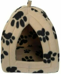 New Dog Cat Kitten Pet Puppy Soft Fleece Warm Igloo Bed House Cave Luxury Basket
