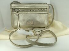 Women's FOSSIL Brand Champagne DAWSON Mini Handbag - $98 MSRP