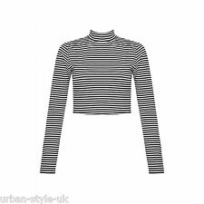 Unbranded Women's Polo Neck Striped Jumpers & Cardigans