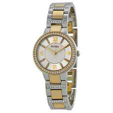Fossil Women's ES3503 'Virginia' Crystal Two-Tone Stainless steel Watch