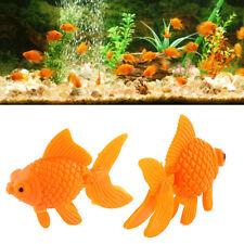 10pcs Orange Plastic Fish Tank Ornament Artificial Swing Tail Goldfish