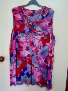 Quality Sue NEW!! BEAUTIFUL TS 14+ TAKING SHAPE s/less TOP Plus size 22/24