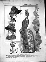 Old Print 1888 Jay Fashion London Bensons Watch Ozone Paper Brandy Lewis 19th