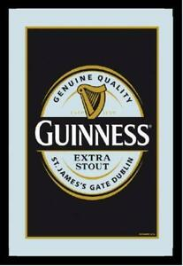 Guinness Extra Beer Mirror Wall Mirror BAR Party Basement BAR 11 13/16in