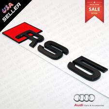 Car 3D Auto ABS Emblem RS5 RS 5 Gloss Black Logo Sticker Rear Tail Badge Trunk