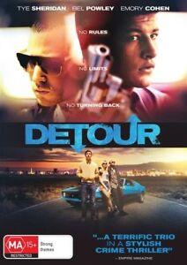 DETOUR (2017, DVD) **Tye Sheridan, Stephen Moyer** ***BRAND NEW***