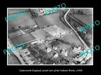 OLD LARGE HISTORIC PHOTO OF LUTTERWORTH ENGLAND, VIEW OF THE VEDONIS WORKS c1930