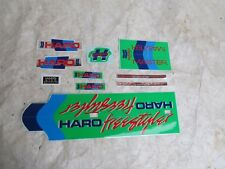 HARO MASTER DECALS BMX GREEN FREESTYLER STICKERS FACTORY MADE RARE