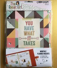 Carpe Diem RESET GIRL A5 Planner Set - Monthly Inserts & Dividers fit A5 Filofax