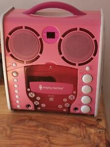 FAULTY Singing Machine SML-383 Portable CD-G Karaoke Pink