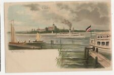 Wannsee Vintage U/B Chromo Litho Postcard Germany 401a
