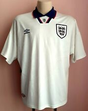 England 1995 - 1997 Home football Umbro shirt 2XL