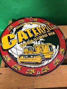 Vintage caterpillar dozer Porcelain sign