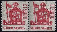 "Scarce 25c ""Savemore"" School Savings Cinderella Stamp for Schermack Machine Mnh"